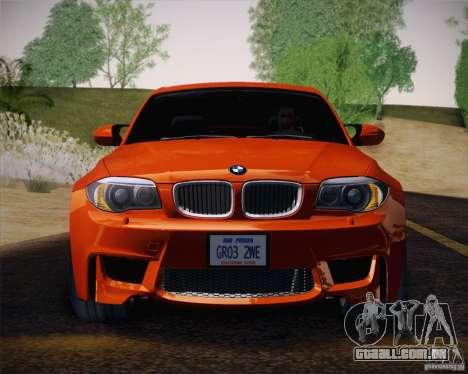 BMW 1M v2 para GTA San Andreas vista interior