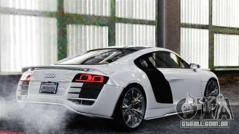 Audi R8 LeMans para GTA 4 vista direita