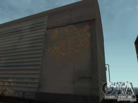 Carroça Refrežiratornyj Dessau n º 8 pintado para GTA San Andreas vista traseira