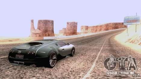 Bugatti ExtremeVeyron para GTA San Andreas vista traseira