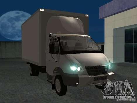 33102 Valday GAZ (longo) para GTA San Andreas vista traseira