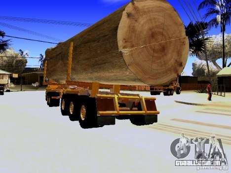 Trailer de Hayes EQ 142 para GTA San Andreas traseira esquerda vista