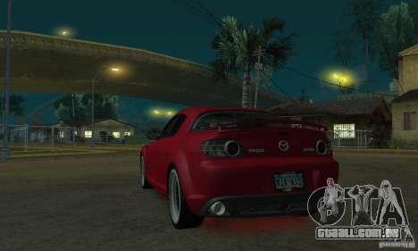 Luzes de néon vermelhas para GTA San Andreas segunda tela