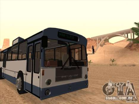 MAN SL200 Exclusive v.1.00 para GTA San Andreas vista traseira