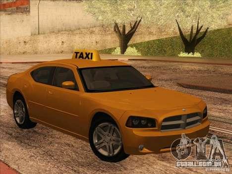 Dodge Charger STR8 Taxi para GTA San Andreas esquerda vista