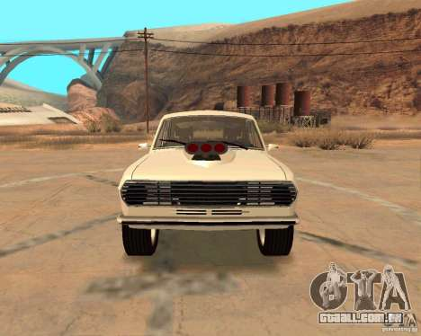 GAZ Volga 2410 Hot Road para GTA San Andreas vista inferior