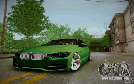 BMW 3 Series F30 Stanced 2012 para GTA San Andreas vista interior