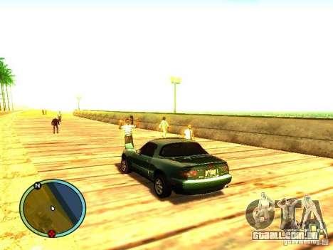 Mazda Miata 1994 para GTA San Andreas traseira esquerda vista