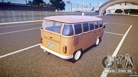 Volkswagen Kombi Bus para GTA 4 traseira esquerda vista