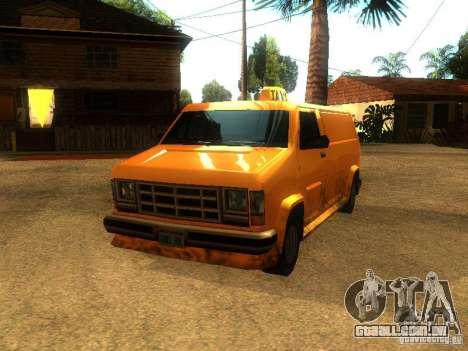 Taxi Burrito para GTA San Andreas esquerda vista