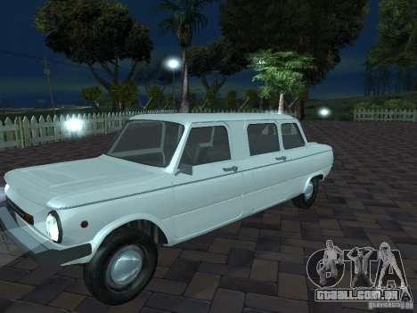 ZAZ 968M Limousine para GTA San Andreas vista superior
