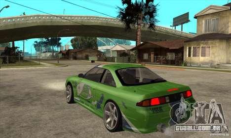 Nissan Silvia S14a JardinE Drift para GTA San Andreas traseira esquerda vista