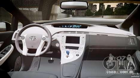 Toyota Prius NYC Taxi 2011 para GTA 4 vista de volta