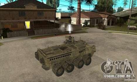Stryker CDMW2 para GTA San Andreas vista direita