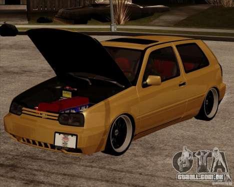 VW Golf MK 4 low & slow para GTA San Andreas traseira esquerda vista