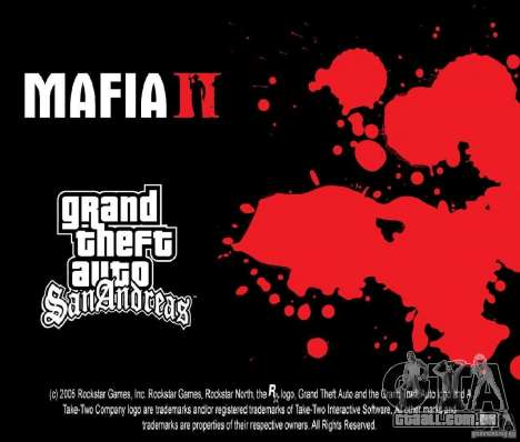 Imagens de inicialização no estilo de uma Mafia  para GTA San Andreas