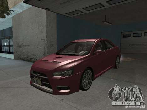 Mitsubishi Evolution X Stock-Tunable para GTA San Andreas vista superior