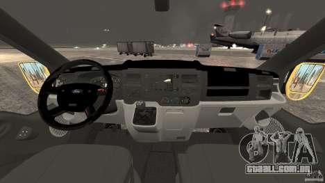 Ford Transit NY Airport Service [ELS] para GTA 4 vista de volta