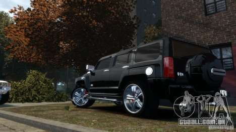 Hummer H3 2005 Chrome Final para GTA 4 esquerda vista