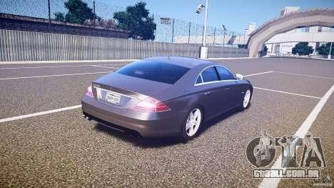 Mercedes-Benz CLS 63 para GTA 4 vista superior