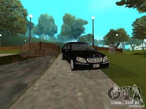 Mercedes-Benz S600 Biturbo 2003 v2 para GTA San Andreas esquerda vista