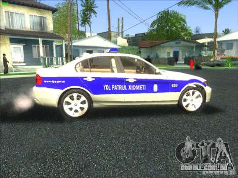 BMW 330i YPX para GTA San Andreas vista interior