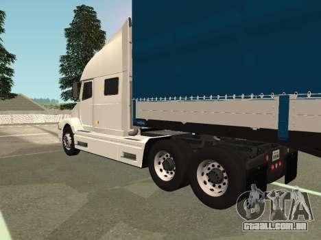 Volvo VNL para GTA San Andreas traseira esquerda vista