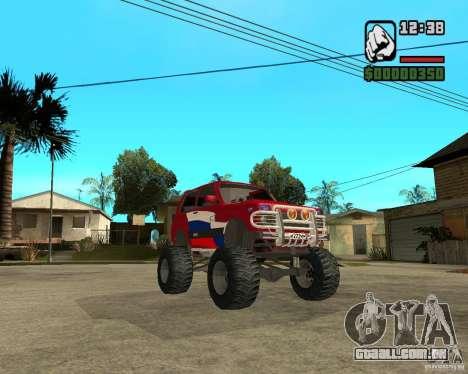 VAZ-21213 4x4 Monster para GTA San Andreas vista interior
