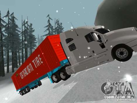 Reboque Container para GTA San Andreas vista direita