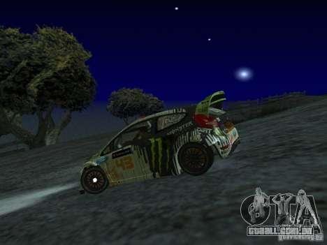 Ford Fiesta Ken Block WRC para GTA San Andreas esquerda vista