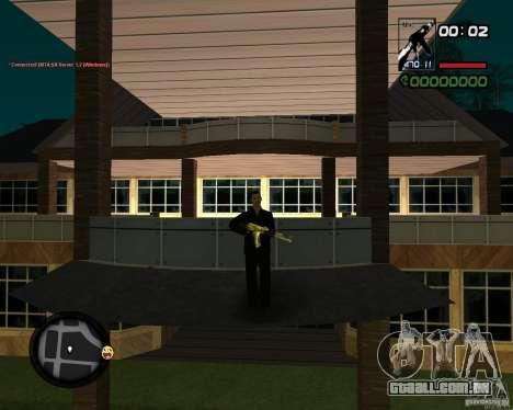 AK-47 Gold para GTA San Andreas terceira tela