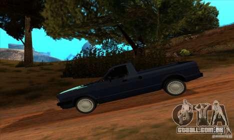 Ford Pampa Ghia 1.8 Turbo para GTA San Andreas traseira esquerda vista