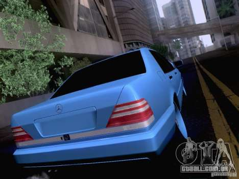 Mercedes-Benz S-Class W140 para GTA San Andreas vista interior