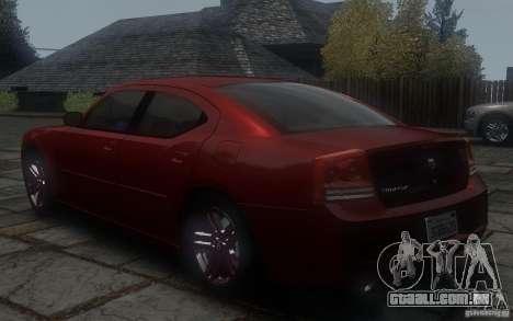 Dodge Charger RT Hemi 2008 para GTA 4 traseira esquerda vista