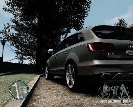 Audi Q7 V12 TDI Quattro Updated para GTA 4 vista direita