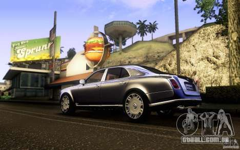 Bentley Mulsanne 2010 v1.0 para GTA San Andreas