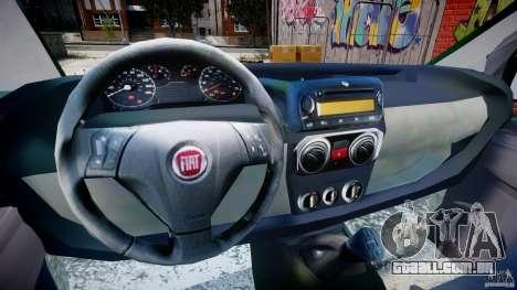Fiat Fiorino 2008 Van para GTA 4 vista de volta