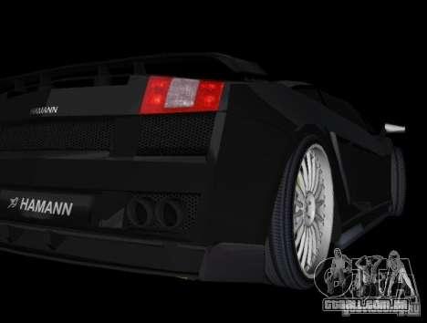 Lamborghini Gallardo Hamann Tuning para GTA Vice City vista direita