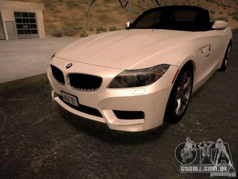 BMW Z4 sDrive28i 2012 para GTA San Andreas interior