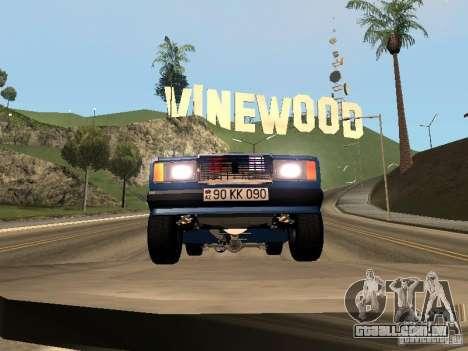 VAZ 2107 Baku para GTA San Andreas traseira esquerda vista