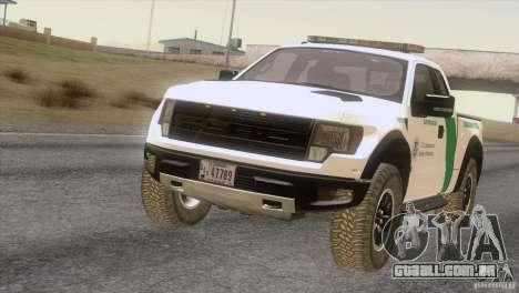 Ford Raptor para GTA San Andreas esquerda vista