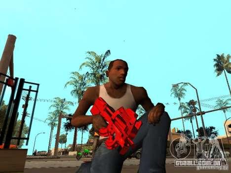 Red Chrome Weapon Pack para GTA San Andreas terceira tela