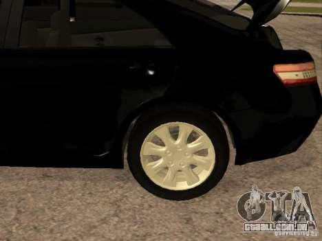 Toyota Camry 2010 para GTA San Andreas vista interior