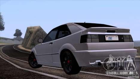Volkswagen Corrado VR6 para GTA San Andreas vista direita