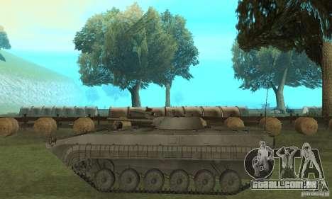 BMP-1 cinza para GTA San Andreas esquerda vista