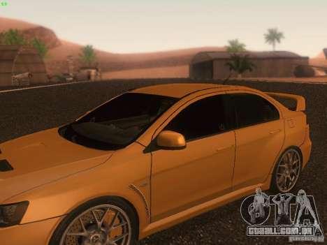Mitsubishi  Lancer Evo X BMS Edition para as rodas de GTA San Andreas