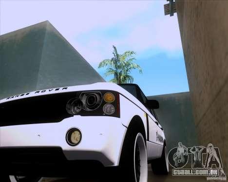 Range Rover Hamann Edition para GTA San Andreas vista interior