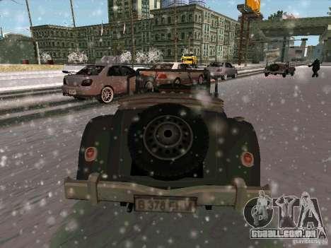 Auto sabotagem jogo para GTA San Andreas traseira esquerda vista