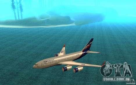 O IL-96-300 Aeroflot em novas cores para GTA San Andreas