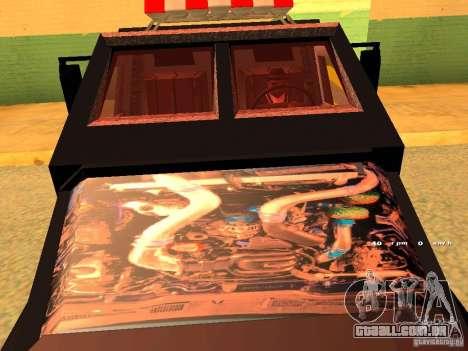 Swat III Securica para GTA San Andreas traseira esquerda vista